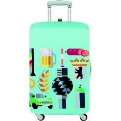 Pokrowiec na walizkę LOQI Hey Berlin. Zielone walizki LOQI, z elastanu. Za 114,00 zł.