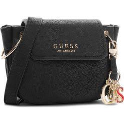 Torebka GUESS - HWVG67 00210 BLA. Czarne listonoszki damskie marki Guess, z aplikacjami, ze skóry ekologicznej. Za 559,00 zł.