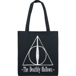 Torebki klasyczne damskie: Harry Potter The Deathly Hallows Torba płócienna czarny/biały