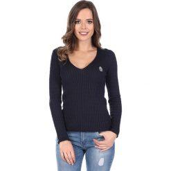 """Swetry klasyczne damskie: Sweter """"Deuce"""" w kolorze granatowym"""