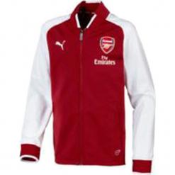 """Bluza """"FC Arsenal"""" w kolorze czerwonym. Czerwone bluzy chłopięce rozpinane marki Puma, z nadrukiem. W wyprzedaży za 136,95 zł."""