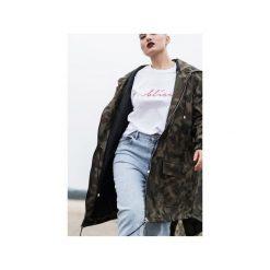 Kurtka ocieplana / płaszcz typu parka moro. Czerwone kurtki damskie przeciwdeszczowe marki Cropp, na zimę, l. Za 389,00 zł.