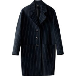 Płaszcze damskie: Płaszcz o owalnym kroju, w paski