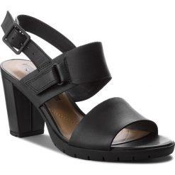 Rzymianki damskie: Sandały CLARKS – Kurtley Shine 261335874 Black Leather