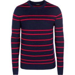 Swetry klasyczne męskie: Sweter w kolorze granatowo-czerwonym