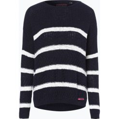 Swetry klasyczne damskie: Superdry – Sweter damski, niebieski