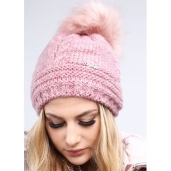 Ciemnoróżowa czapka damska na zimę C10. Szare czapki damskie Fasardi, na zimę. Za 39,00 zł.