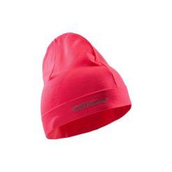 Czapka do biegania. Czerwone czapki zimowe damskie marki KALENJI, z elastanu. Za 19,99 zł.