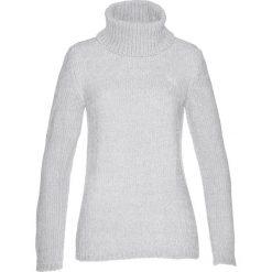 Golfy damskie: Sweter z szenili bonprix srebrny matowy
