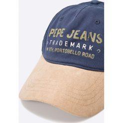 Pepe Jeans - Czapka Acton. Szare czapki z daszkiem męskie Pepe Jeans. W wyprzedaży za 59,90 zł.