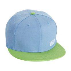 Vans Czapka Z Daszkiem M Splitz Pale Blue/Green S-M. Niebieskie czapki z daszkiem męskie marki Vans, z napisami, sportowe. W wyprzedaży za 69,00 zł.