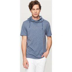 T-shirty męskie: T-shirt z kominem – Granatowy