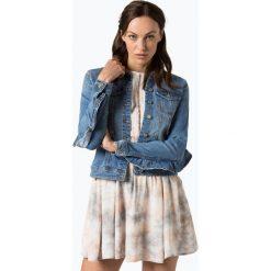 Bomberki damskie: Vila - Damska kurtka jeansowa – Vilucca, niebieski