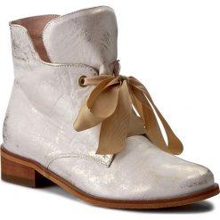 Botki EKSBUT - 77-4538-672-1G Złoto Licowa. Żółte buty zimowe damskie Eksbut, ze skóry, na obcasie. W wyprzedaży za 239,00 zł.