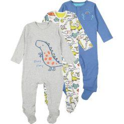 Mothercare BOYS DINO HANGING SLEEPSUITS 3 PACK Piżama brights multi. Niebieskie bielizna chłopięca marki mothercare, z bawełny. Za 169,00 zł.
