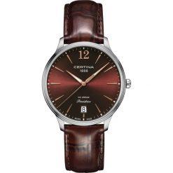 PROMOCJA ZEGAREK CERTINA LADY QUARTZ C021.810.16.297.00. Brązowe zegarki damskie CERTINA, ze stali. W wyprzedaży za 1425,60 zł.