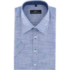 Koszula GILBERTO 16-01-13-K. Brązowe koszule męskie na spinki marki QUECHUA, m, z elastanu, z krótkim rękawem. Za 169,00 zł.