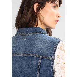 Liu Jo Jeans GIUBBINO COMELY Kurtka jeansowa denim blue. Niebieskie bomberki damskie Liu Jo Jeans, m, z bawełny. W wyprzedaży za 831,20 zł.