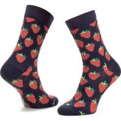 Skarpety Wysokie Unisex HAPPY SOCKS - STB01-6000 Granatowy. Czerwone skarpetki męskie marki Happy Socks, z bawełny. Za 34,90 zł.
