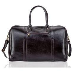 Brązowa Skórzana męska torba podróżna, weekend Solier MARSHALL. Brązowe torby podróżne Solier, w paski, ze skóry, na ramię. Za 639,00 zł.