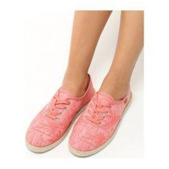 Różowe Espadryle Sunny Day. Czerwone espadryle damskie marki Napapijri, z materiału. Za 39,99 zł.