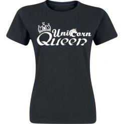 Bluzki asymetryczne: Unicorn Queen Koszulka damska czarny