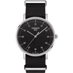 PROMOCJA ZEGAREK TISSOT EVERYTIME GENT T109.410.17.077.00. Czarne zegarki męskie TISSOT, ze stali. W wyprzedaży za 836,00 zł.