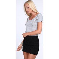 Spódniczki: Spódniczka koronkowa czarna ZZ386