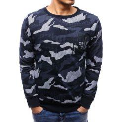 Bluzy męskie: Bluza męska z nadrukiem camo granatowa (bx3501)