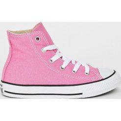 Converse - Trampki dziecięce. Różowe buty sportowe dziewczęce marki Converse, z gumy, na sznurówki. W wyprzedaży za 219,90 zł.