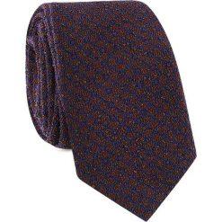 Krawat KWGR001442. Czarne krawaty męskie Giacomo Conti, w geometryczne wzory, z mikrofibry, wizytowe. Za 69,00 zł.