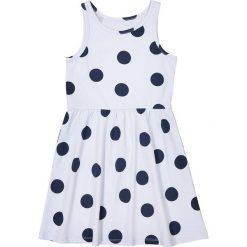 Sukienki dziewczęce z falbanami: Sukienka bez rękawów w groszki 3-12 lat