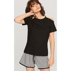 Bielizna nocna: Piżama z szortami - Czarny