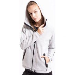 Bluza damska BLD263Z - jasny szary melanż - 4F. Szare bluzy sportowe damskie 4f, na jesień, m, melanż, z bawełny, z kapturem. Za 99,99 zł.