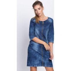 Granatowa Sukienka Lost The Love. Niebieskie sukienki marki Born2be, na jesień, z jeansu. Za 89,99 zł.