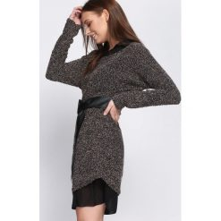 Beżowo-Czarna Sukienka Blame It On You. Brązowe sukienki dzianinowe Born2be, uniwersalny. Za 89,99 zł.