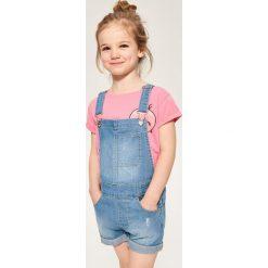 Odzież dziecięca: Jeansowe szorty ogrodniczki - Niebieski