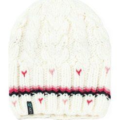 Czapka damska Stripes biała. Białe czapki zimowe damskie marki Art of Polo. Za 37,60 zł.