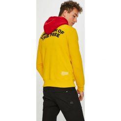 G-Star Raw - Bluza. Żółte bluzy męskie rozpinane marki G-Star RAW, l, z nadrukiem, z bawełny, z kapturem. W wyprzedaży za 399,90 zł.