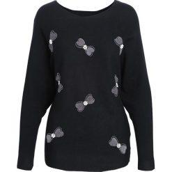 Czarny Sweter I Just Starting. Czarne swetry klasyczne damskie Born2be, l, z okrągłym kołnierzem. Za 69,99 zł.
