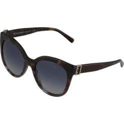 Burberry Okulary przeciwsłoneczne green havana/blue havana. Brązowe okulary przeciwsłoneczne damskie aviatory Burberry. Za 889,00 zł.