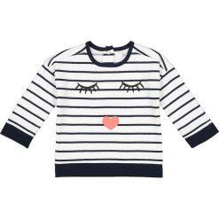 Bluza w paski 1 miesiąc - 3 latka. Szare bluzy dziewczęce rozpinane marki La Redoute Collections, w paski, z bawełny, z długim rękawem, długie. Za 44,06 zł.