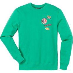 Bluzy męskie: Bluza dresowa Slim Fit bonprix zielony