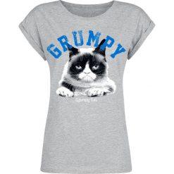 Grumpy Cat Grumpy Koszulka damska odcienie szarego. Szare t-shirty damskie Grumpy Cat, s, z nadrukiem, z okrągłym kołnierzem. Za 62,90 zł.
