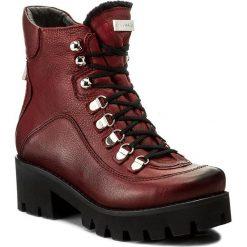 Botki EVA MINGE - Milagros 2X 17SM1372230EF 134. Czerwone buty zimowe damskie Eva Minge, ze skóry, na obcasie. W wyprzedaży za 259,00 zł.