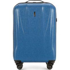Walizka Mała 56-3P-961-90. Niebieskie walizki marki Wittchen, z gumy, małe. Za 159,00 zł.