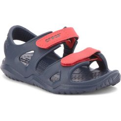 Sandały męskie skórzane: Sandały CROCS – Swiftwater River Sandal K 204988 Navy/Flame