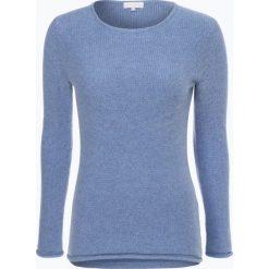 Marie Lund - Sweter damski z czystego kaszmiru, niebieski. Niebieskie swetry klasyczne damskie Marie Lund, s, z dzianiny. Za 399,95 zł.