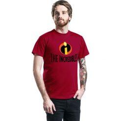 T-shirty męskie z nadrukiem: The Incredibles Logo T-Shirt czerwony