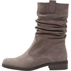 Gabor WIDE FIT Kowbojki i Buty motocyklowe antharzit. Szare buty zimowe damskie marki Gabor, z materiału. W wyprzedaży za 461,30 zł.